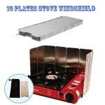 10 pcs Pare-vent Pliable en Alliage d'aluminium pour Barbecue/Réchaud de Camping/Camping Pique-nique de la marque Generic image 3 produit