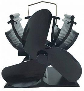 13cm Hauteur Mini poêle à la chaleur Ventilateur pour petit espace de bois/Bûches Brûleur–écologique noir de la marque VODA image 0 produit