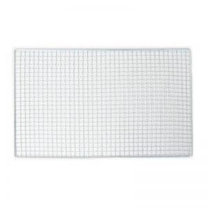 45 cm x 30 cm Métal argenté de cuisson rectangulaire avec grille Barbecue pour accessoires de la marque Sourcingmap image 0 produit