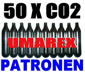 50 x 12g capsules de CO2 pour airsoft , paintball, pistolets à air ou carabines à air comprimé de la marque Umarex image 0 produit