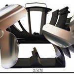 6lames à la chaleur Poêle Ventilateur augmente 90% plus l'air chaud que 3lames, spécialement conçu pour petit espace en Bois/Bûches burner-making Chambre chaud rapidement de la marque VODA image 3 produit
