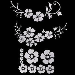 ACBungji Stickers autocollants fleur d'hibiscus voiture pare-chocs frigo mur porte (Blanc #2) de la marque ACBungji image 0 produit
