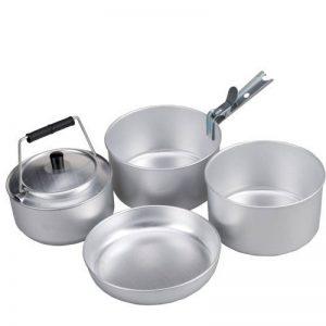 AceCamp de Ensemble de casseroles de camping pour 4personnes, empilable, Kit de cuisine, cuisine, Compact, aluminium, 1652 de la marque AceCamp image 0 produit