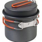 AceCamp Solo Kit de cuisine, Ultra Léger–185g, Faitout, Poêle, 600ml, aluminium anodisé, anthracite, Orange, 1666 de la marque AceCamp image 1 produit