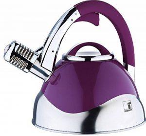 Acier Inox Induction Bouilloire 3L (Bouilloire avec sifflet intégré, Bouilloire, Violet laqué, poignées Soft Touch) de la marque Bergner image 0 produit