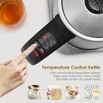 Aicok Bouilloire Électrique Thermostat Réglable, 6 températures préréglées pour Bouilloire à Thé Bouilloire Inox 1.7L, Arrêt Automatique 2200W Argent de la marque Aicok image 1 produit