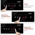 Aicok Plaque à Induction, Réchaud Électrique avec 10 niveaux de puissance jusqu'à 240°C, Minuteur Régalble, Contrôles Tactiles, Plaque en Cristal Polie, 2000W, Chauffe Rapide, Noir de la marque Aicok image 3 produit
