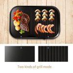 Aigostar Teplo 30CER - Plaque de cuisson et grill 2 en 1, anti-adhésive, 1800 W, thermostat réglable. de la marque Aigostar image 1 produit
