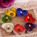 Ailiebhaus Parfumée Bougies Lot de 50 Bougies Forme de Coeur d'amour de la marque Ailiebhaus image 2 produit