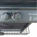 Alice's Garden Aramis Barbecue à gaz sur roulettes avec plancha/grille de cuisson Noir 5500W de la marque Alice's Garden image 4 produit