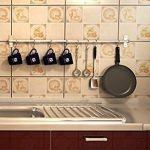 Alicemall Barre Mural Cuisine Support de Rangement Mural pour Ustensiles de Cuisine en Inox(Ustensiles non inclus)avec 15 Crochets Mobiles Rail de Suspension Barre de Crédence Kitchen(80cm) de la marque Alicemall image 6 produit