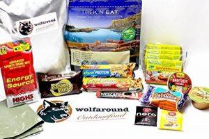 Aliments pour vos activités à l'extérieur - Végétalien - 782g- 2488Kcal - Provisions pour les randonnées d'une journée (24h) de la marque wolfaround image 0 produit
