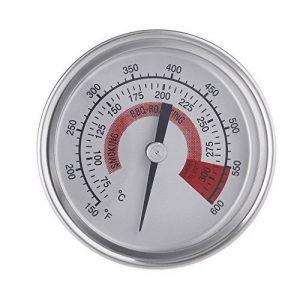 """Anself F&C 2.25"""" Thermomètre de four en acier inoxydable Thermomètre pour barbecue Grill fumoir Thermomètre double foyer avec Gage 300°C de la marque Anself image 0 produit"""