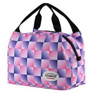 Aosbos Sac Isotherme Femme Sac à Déjeuner Lunch Bag Repas Thermique avec Style Carreux de la marque Aosbos image 0 produit