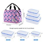 Aosbos Sac Isotherme Femme Sac à Déjeuner Lunch Bag Repas Thermique avec Style Carreux de la marque Aosbos image 2 produit