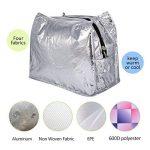 Aosbos Sac Isotherme Femme Sac à Déjeuner Lunch Bag Repas Thermique avec Style Carreux de la marque Aosbos image 3 produit