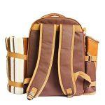 Apollowalker 4 Panier de sac à dos de pique-nique Sac isotherme avec Service de table et couverture de la marque APOLLOWALKER image 4 produit