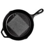 Aspirateur en fonte avec plastique durable Poêle grill à raclette, Senhai 17,8x 17,8cm en acier inoxydable jaseron à récurer parfaite pour poêles, plaques, poêles ou woks et bien plus encore de la marque senhai image 1 produit