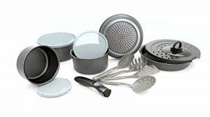 BACKEN Set de poêles et casseroles avec poignée amovible - Set 14 Pièces Gris -Tous feux dont induction de la marque BACKEN image 0 produit