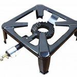 BACOENG Rechaud Gaz avec 4 Pieds Fonte Noir brûleur à gaz+ Allume-gaz électrique Allume-feu de la marque BACOENG image 1 produit