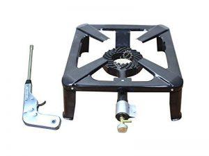 BACOENG Rechaud Gaz avec 4 Pieds Fonte Noir brûleur à gaz+ Allume-gaz électrique Allume-feu de la marque BACOENG image 0 produit