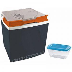 Bakaji Réfrigérateur électrique 26lt voiture maison 12–230V Glacière Gris foncé Dimensions: 39,5x 29,5x 45cm récipient hermétique en plastique de 1Lt pour aliments inclus Gio 'style de la marque Bakaji image 0 produit