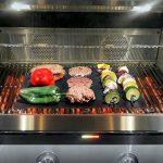 Barbecue Tapis (Lot de 10), Imarku de qualité et réutilisables Tapis de tapis Barbecue Teflon anti-adhésif 0,2mm épaisseur 40x 33cm, Idéal pour barbecue et plaque de cuisson anti adhésive, barbecue et pâtisserie de la marque Allezola image 3 produit