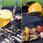 Barbecue Tapis (Lot de 10), Imarku de qualité et réutilisables Tapis de tapis Barbecue Teflon anti-adhésif 0,2mm épaisseur 40x 33cm, Idéal pour barbecue et plaque de cuisson anti adhésive, barbecue et pâtisserie de la marque Allezola image 2 produit