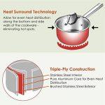 Batterie de cuisine induction, 10 pièces, résistantes à la rouille et au four, poignées rivetées/Non PFOA/des gants de cuisine gratuits de la marque DEIK image 2 produit