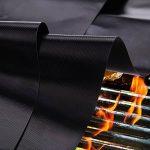 BBQ Grill Mat par chapitre sept Ensemble de 5 antiadhésives - Tapis de grillage réutilisables pour grils de charbon de bois, de gaz ou électriques, ou Cuisson et cuisson, Facile à nettoyer, Sécurité au lave-vaisselle FDA approuvé, Warranty à vie de la mar image 3 produit