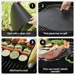BBQ Grill Mats, YoHom Durable Non-Stick BBQ & Griller Feuille résistant à la chaleur, réutilisable et facile à nettoyer Grill Pads pour le gril, cuisson, barbecue et four, 15.7x 13 pouces (Set of 2) de la marque Fyuan image 3 produit