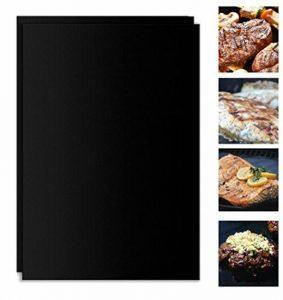 BBQ Grill Mats, YoHom Durable Non-Stick BBQ & Griller Feuille résistant à la chaleur, réutilisable et facile à nettoyer Grill Pads pour le gril, cuisson, barbecue et four, 15.7x 13 pouces (Set of 2) de la marque Fyuan image 0 produit