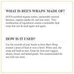 Bee's Wrap Lot de 3emballages alimentaires Tailles assorties Beige de la marque Bee's Wrap image 4 produit