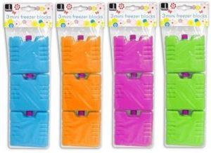 Bello Lot de 3 mini accumulateurs de froid Vert, orange ou bleu de la marque Marque : Bello image 0 produit