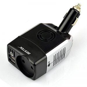 BESTEK Convertisseur 12V en 220V Chargeur Allume Cigare 75W Onduleur Transformateur de Tension Dual Ports USB - Prise EU de la marque BESTEK image 0 produit