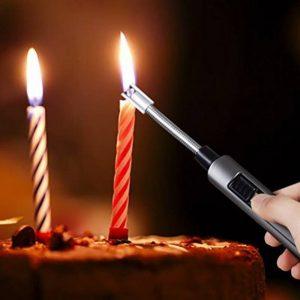Blinngo Briquet Allume-gaz Briquet USB Electrique Arc Rechargeable Sans Flamme Coude flexible 360 degrés rotatif pour Barbecue,Cuisinière, Bougies,Cheminée de la marque Blinngo image 0 produit