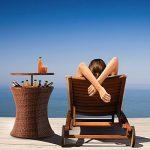 Blumfeldt Beerboy - Table de jardin avec bassine à glaçons pour boissons fraiches (hauteur réglable entre 56 et 97cm) rotin synthétique de la marque Blumfeldt image 3 produit