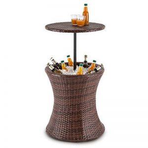 Blumfeldt Beerboy - Table de jardin avec bassine à glaçons pour boissons fraiches (hauteur réglable entre 56 et 97cm) rotin synthétique de la marque Blumfeldt image 0 produit