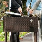 Blumfeldt Springbreak - Bar mobile, glacière frigorifique pour terrasse et jardin, contenance de 80L (décapsuleur et receptacle à capsules, roulettes, vidange facile) - rotin foncé de la marque Blumfeldt image 3 produit