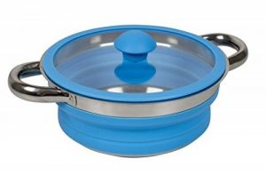 Bo-Camp Casserole avec couvercle - Silicone/Inox - Pliable - Bleu de la marque Bo-Camp image 0 produit