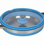 Bo-Camp Casserole avec couvercle - Silicone/Inox - Pliable - Bleu de la marque Bo-Camp image 2 produit