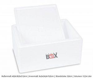 Boîte polystyrène blanc Box Boîte thermique Glacière Isotherme 40x 30x 21cm–12,06L ISO Box de la marque Isobox image 0 produit