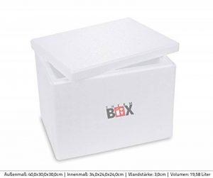 Boîte polystyrène blanc Box Boîte thermique Glacière Isotherme 40x 30x 30cm–18,89L ISO Box de la marque Isobox image 0 produit