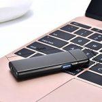 Briquet USB rechargeable, Briquet sans flamme écologique sans gaz qualité premium avec coffret cadeau. briquet tempête coupe-vent très élégant ultra-fin. de la marque JIJU image 1 produit