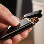 Briquet USB Rechargeable Briquet Tempête Coupe-Vent Briquet écologique sans Flammes de la marque Oudan image 2 produit