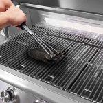 Brosse pour barbecue 3-en-1 inox - HeGii - Long Manche 45.7 CM , Brosse BBQ , Brosse pour Grill - Meilleur outils de nettoyage 360°pour grille et barbecue au charbon de bois, gaz, porcelaine etc de la marque HeGii image 2 produit
