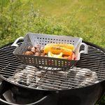 Bruzzzler Panier à légumes, récipient à légumes en acier inoxydable brossé, env.34x28x7cm de la marque Bruzzzler image 2 produit