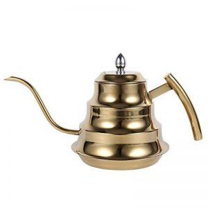 Cafetière Pot De Café Thé Théière Bouilloire En Acier Inox Pour Café Bar Maison Avec Filtre Grande Capacité 1.2Litre ( Couleur : Or ) de la marque Yosoo image 0 produit