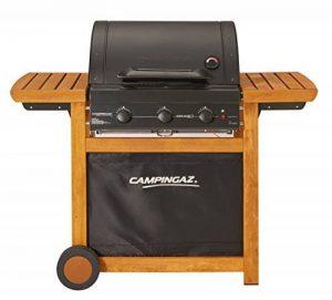 Campingaz Barbecue Gaz Adelaide 3 Woody L, 3 Brûleurs BBQ Gaz, Puissance 14kW, Système de Nettoyage Facile InstaClean, Grille et Plancha en Acier, 2 Tablettes Latérales de la marque Campingaz image 0 produit