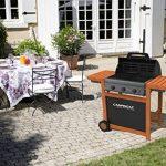 Campingaz Barbecue Gaz Adelaide 3 Woody L, 3 Brûleurs BBQ Gaz, Puissance 14kW, Système de Nettoyage Facile InstaClean, Grille et Plancha en Acier, 2 Tablettes Latérales de la marque Campingaz image 4 produit
